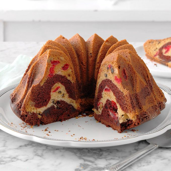 New York: Cherry Chocolate Marble Cake