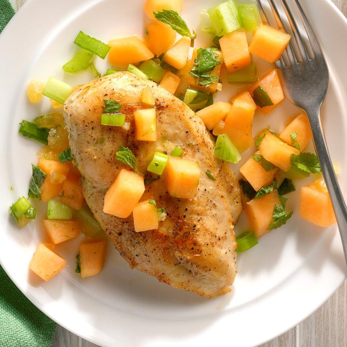 Chicken Breasts with Melon Relish