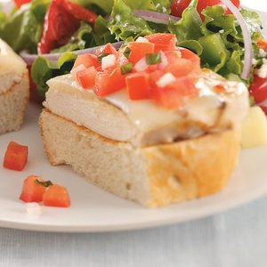 Chicken Bruschetta Sandwiches