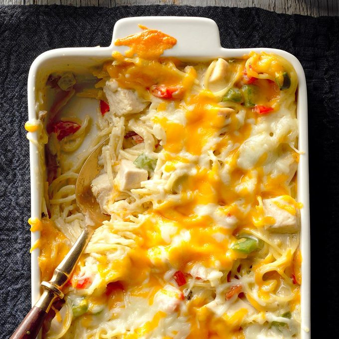 Chicken & Cheese Noodle Bake