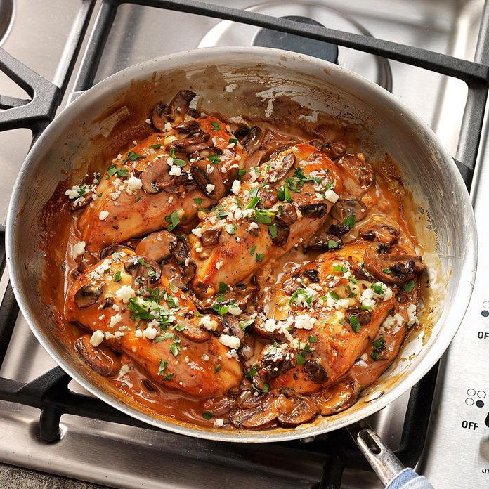 Inspired by: Cheesecake Factory Chicken Marsala and Mushrooms