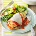 Open-Face Chicken Parmesan Burgers