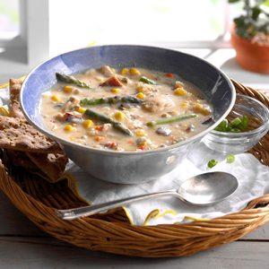 Chicken & Vegetable Wild Rice Soup