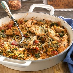 Chicken and Orzo Skillet