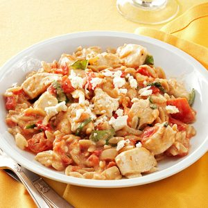 Chicken in Tomato-Basil Cream Sauce
