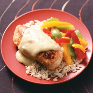 Chicken with Green Chili Sauce