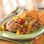 Chicken with Mango-Raspberry Salsa