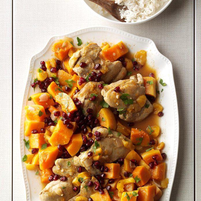 Chicken with Sugar Pumpkins & Apricots