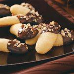 Chocolate Coated Orange Cookies