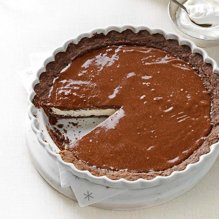 Chocolate Eggnog Pie