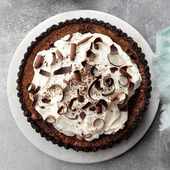 Chocolate Mint Truffle Tart