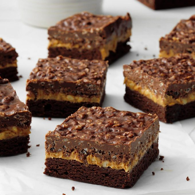 Kansas: Chocolate & Peanut Butter Crispy Bars