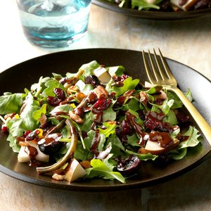Chocolate Pear and Cherry Salad