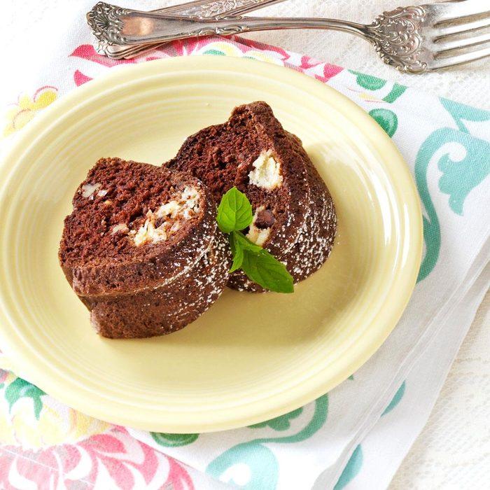 Coconut-Filled Fudge Cake