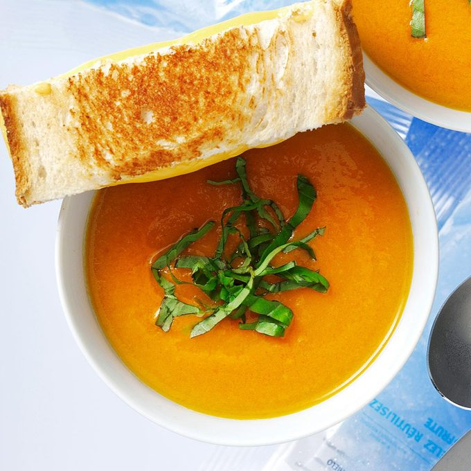Day 1 Lunch:  Contest-Winning Roasted Tomato Soup