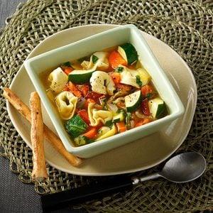 Contest-Winning Veggie Tortellini Soup