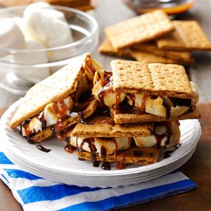 Cookout Caramel S'mores