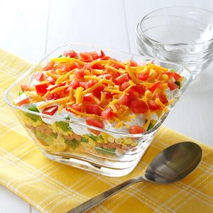 Cornbread Layered Salad