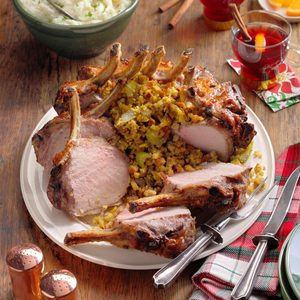 Corn-Stuffed Crown Roast