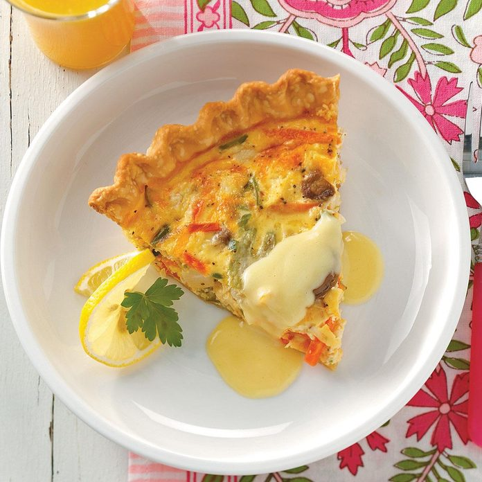Crab Quiche with Hollandaise