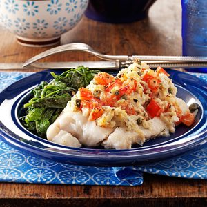Crab-Topped Cod