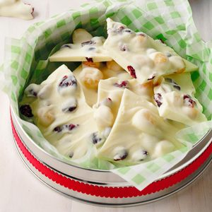 Cranberry Macadamia Bark