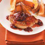 Cranberry-Maple Pork Chops