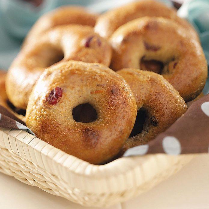 Cranberry orange bagels