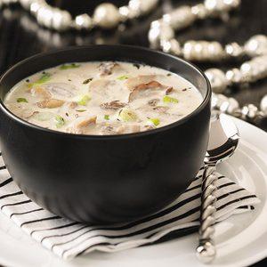 Creamy Garlic & Mushroom Soup