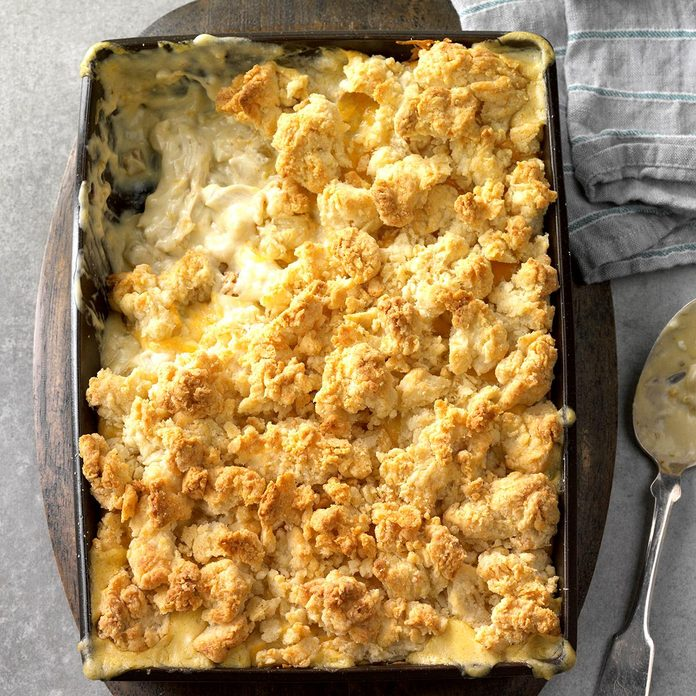 1st Place: Creamy Green Chile Chicken Cobbler
