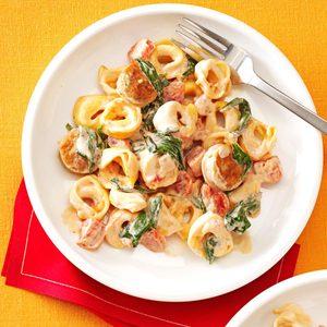 Creamy Tomato Tortellini with Sausage