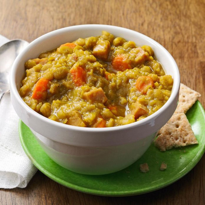 Curried Ham & Split Pea Soup