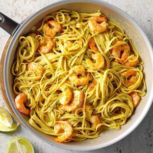 Curry Shrimp Linguine