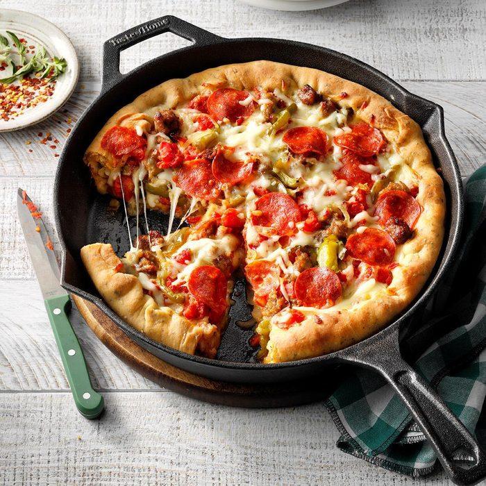 May: Deep Dish Sausage Pizza
