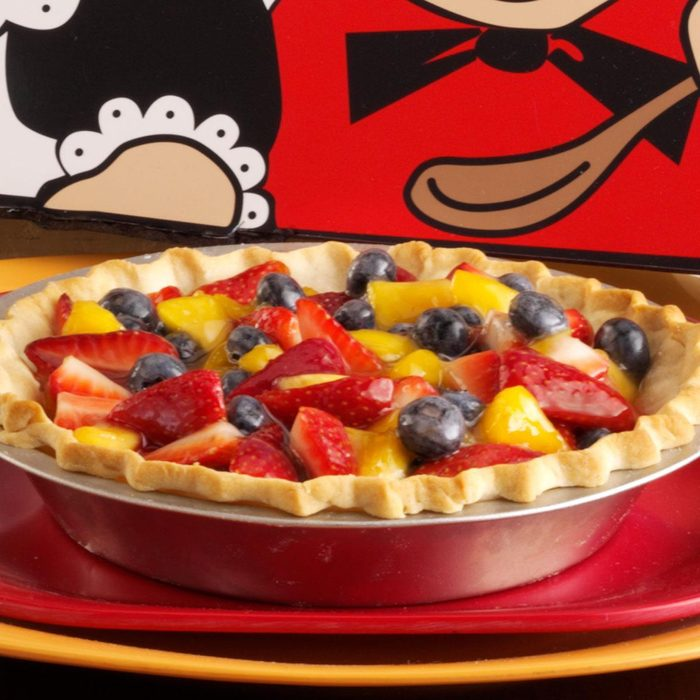 Double Berry Peach Pie