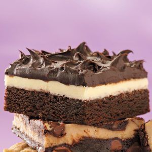 Double Frosted Brownies