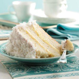 Lemon-Filled Coconut Cake
