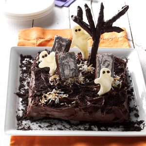 Ghosts in the Graveyard Cake