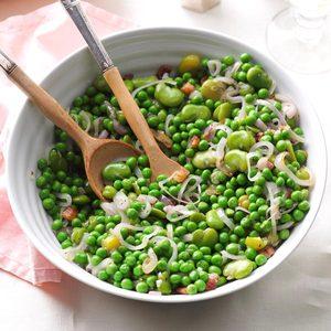Warm Fava Bean & Pea Salad
