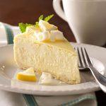Lemony White Chocolate Cheesecake