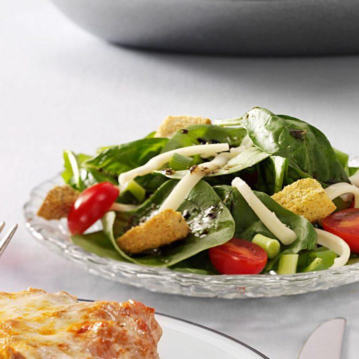 Easy Italian Spinach Salad