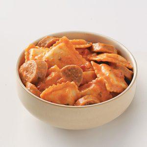 Easy Sausage & Ravioli for Two