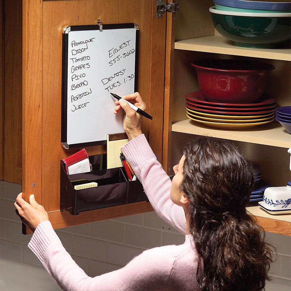 Woman using her concealed message center