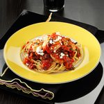 Feta Shrimp with Linguine