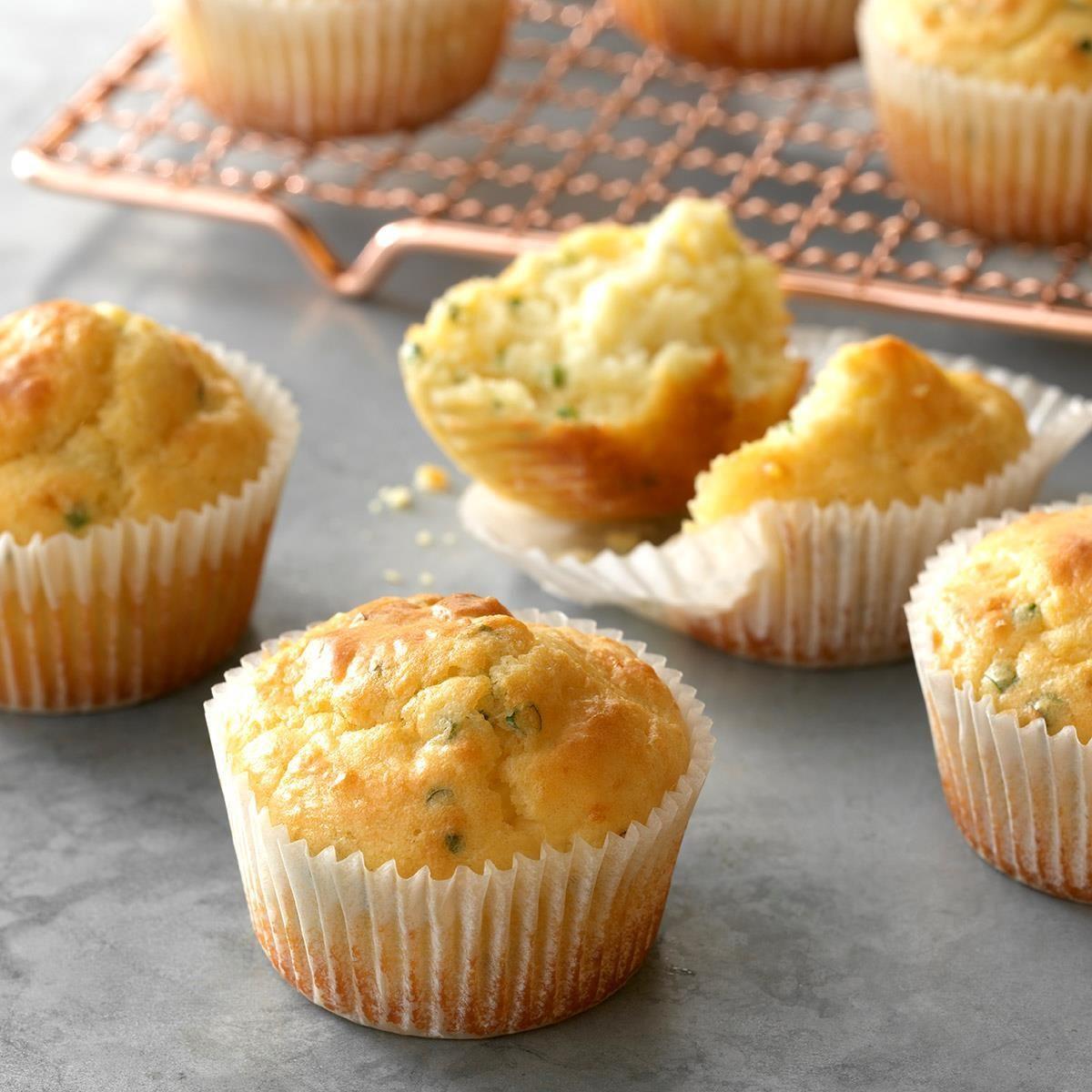 Feta 'n' Chive Muffins