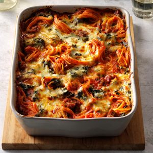 Florentine Spaghetti Bake