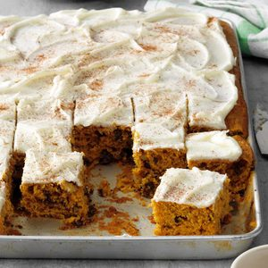 Fluffy Raisin Pumpkin Bars