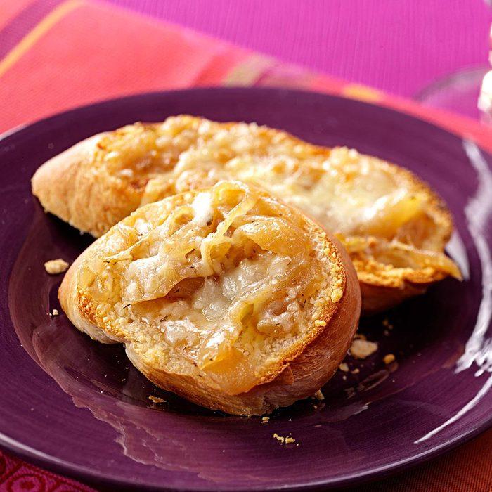 French Onion Garlic Bread