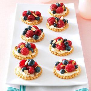 Fresh Berry & Almond Tarts