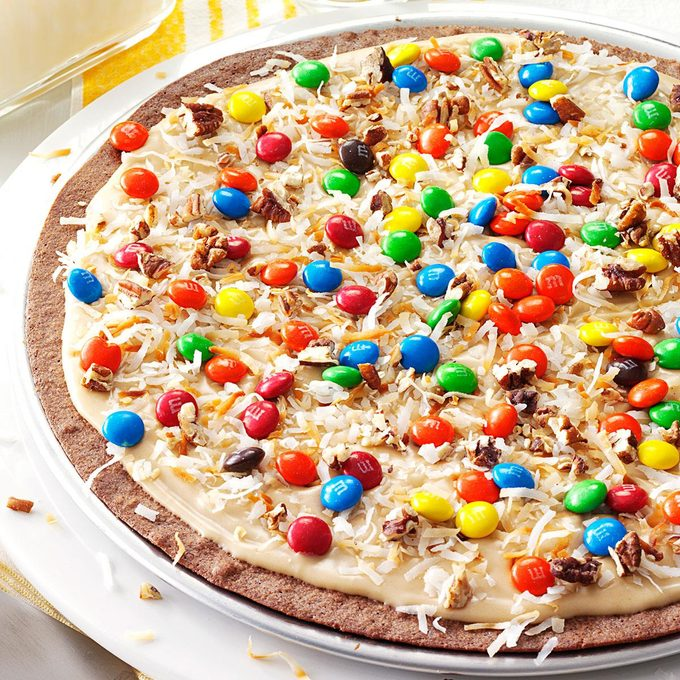 Frosted Brownie Pizza